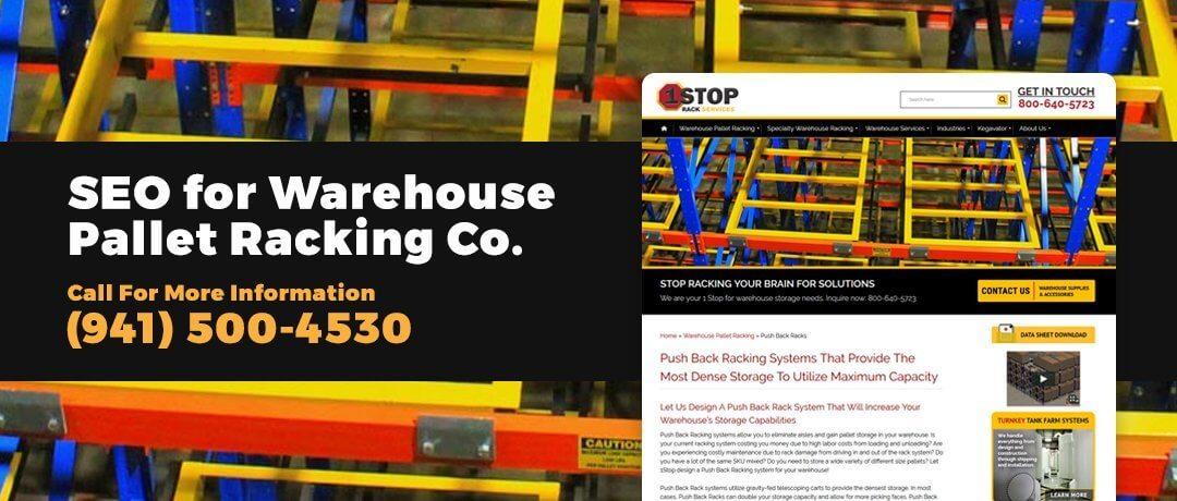 Sarasota SEO for Warehouse Pallet Racking Co.
