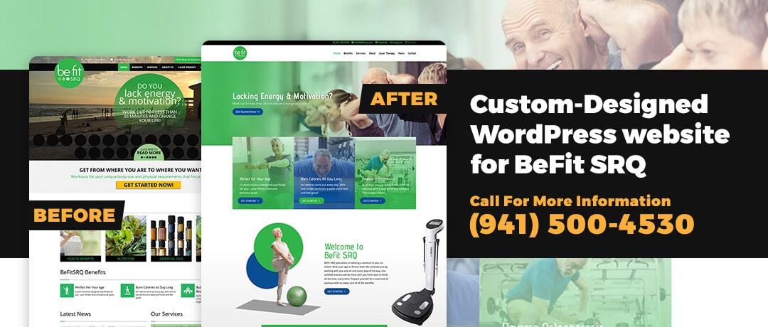 Custom-Designed WordPress Website for BeFit SRQ