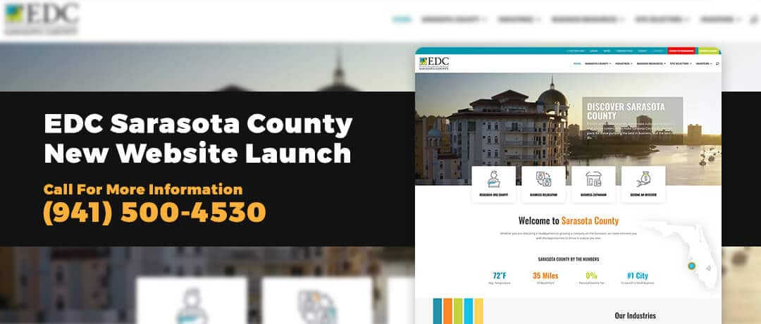 Launch of a new website design for EDC Sarasota County